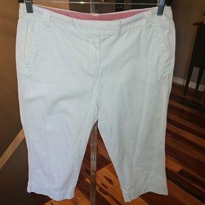 Dalia Basic Casual Size 10 White Cotton Capris